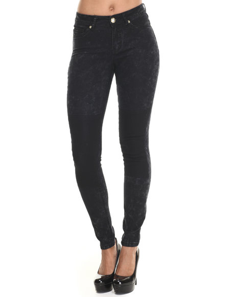 Baby Phat - Women Black 2-Tone Acid Wash Skinny Jean - $24.99