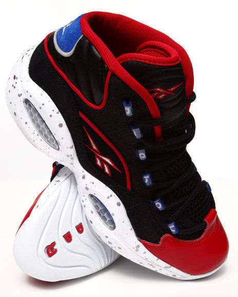 Reebok - Men Black,Red Question Mid Sneakers