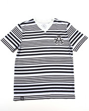Boys - STRIPE V-NECK TEE (8-20)