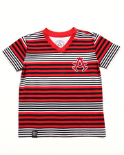 Tops - STRIPE V-NECK TEE (2T-4T)