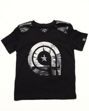"Boys - PU TRIM ""A"" TEE (4-7)"