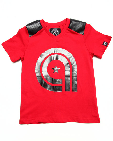 Akademiks - Boys Red Pu Trim