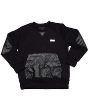Boys - L/S CREW SWEATSHIRT W/ QUILTED PU (4-7)