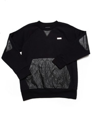 Outerwear - L/S CREW SWEATSHIRT W/ QUILTED PU (8-20)