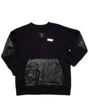 Sizes 2T-4T - Toddler - L/S CREW SWEATSHIRT W/ QUILTED PU (2T-4T)