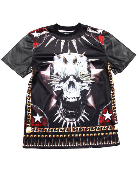 Akademiks - Boys Black Skull Sublimation Te (8-20)