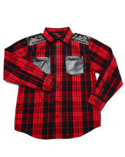 Akademiks - STUDDED PLAID SHIRT (8-20)