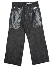 Bottoms - RAW JEANS W/ PU POCKETS (4-7)