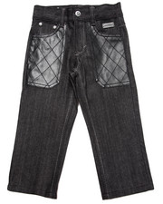 Bottoms - RAW JEANS W/ PU POCKETS (2T-4T)
