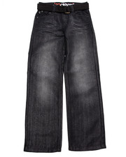 Bottoms - BELTED DISTRESSED JEANS (8-20)