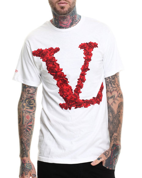 Vampire Life - Men White Rosed S/S T-Shirt