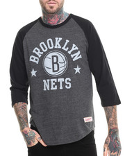 Shirts - Brooklyn Nets NBA Media Guide Raglan Shirt (Tailored fit/Trim Fit)