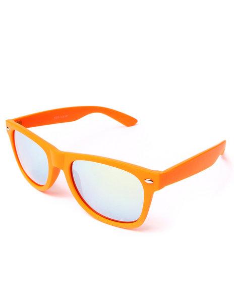 Drj Sunglasses Shoppe Men Aurora Reflective Glow Sunglasses Orange