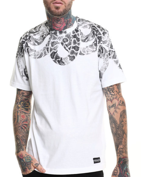 Parish - Men White Snake T-Shirt
