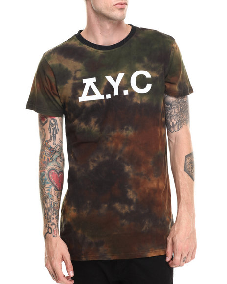 Asphalt Yacht Club - Men Camo Sky High Tie Dye Counter Tee