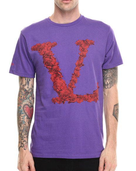 Vampire Life - Men Purple Rosed S/S T-Shirt