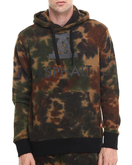 Asphalt Yacht Club - Men Camo Sky High Tie Dye First Division Fleece Hoodie