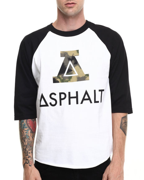 Asphalt Yacht Club - Men Black,White Sky High Tie Dye Raglan Tee