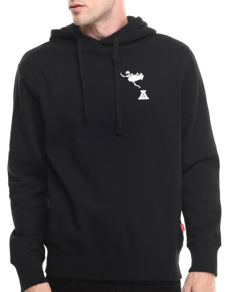Asphalt Yacht Club - Men Black Boneless Fleece Pullover Hoodie