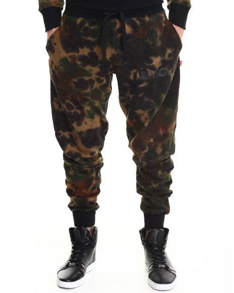 Asphalt Yacht Club - Men Camo Sky High Tie Dye Fleece Pants