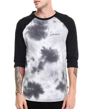 The Skate Shop - Sky High Tie Dye Contrast Raglan Tee