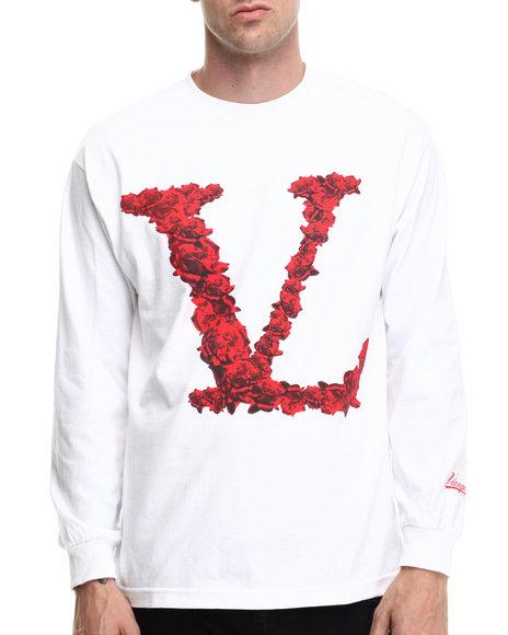 Vampire Life - Men White Rosed L/S T-Shirt