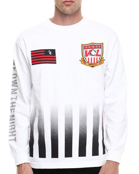 Vampire Life - Men White Goalie L/S T-Shirt