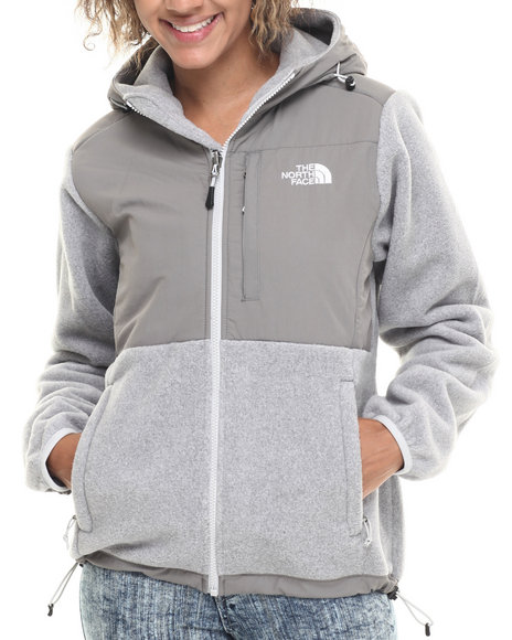 The North Face - Women Grey Denali Hoodie
