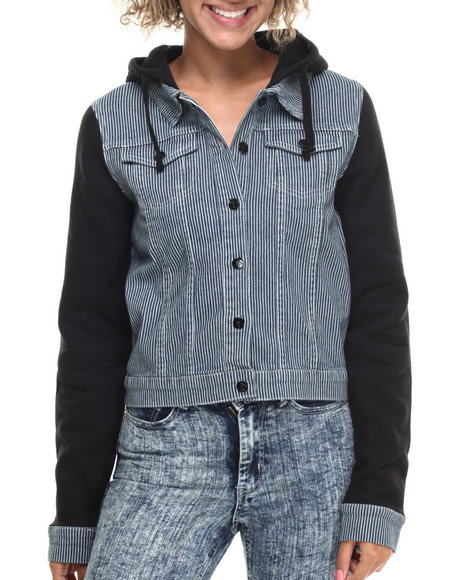 LRG - Women Blue Marigold Denim Light Weight Jacket