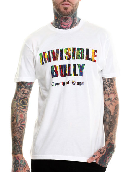 Invisible Bully - Men White I B Signature Sweater - Print S/S Tee