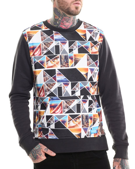 Parish - Men Multi Origami Sweatshirt