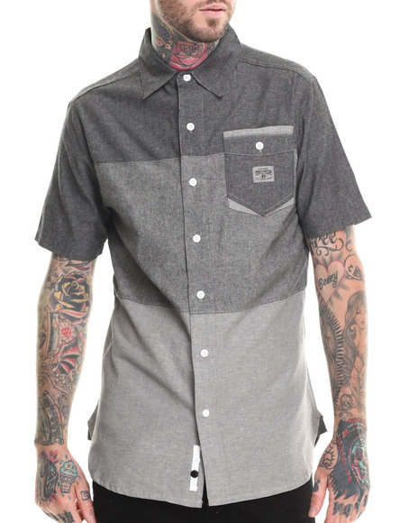 Parish Black Button-Downs