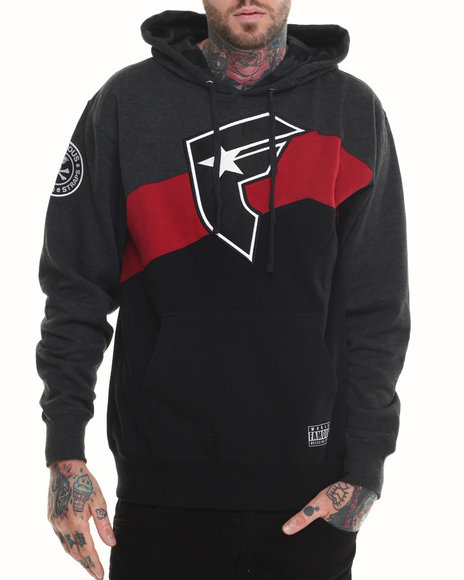 Famous Stars & Straps - Men Charcoal Mound Pullover Hoodie