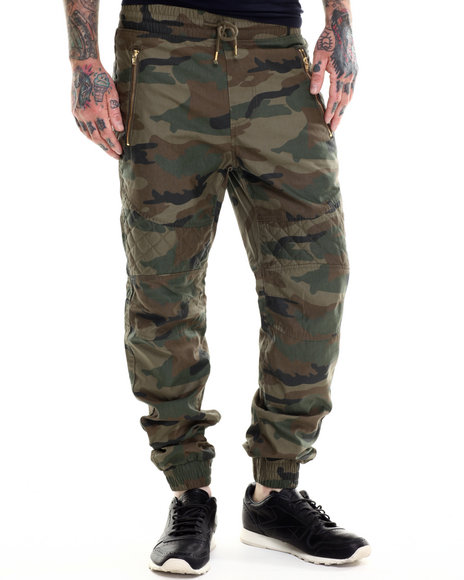 Buyers Picks - Men Camo Waxed Long - Pant Joggers