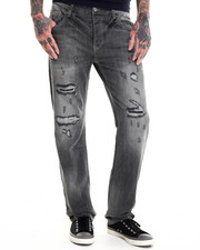 Men - Washed Denim Jeans