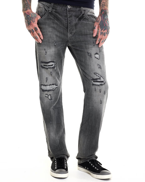 Parish - Men Black Washed Denim Jeans