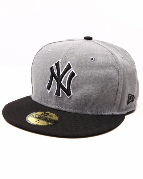 New Era - Men Grey New York Yankees Gray/Blk 5950 Fitted Hat