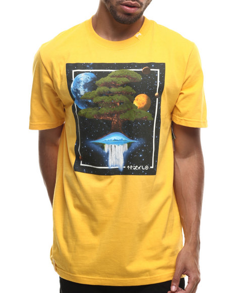 Lrg - Men Yellow Down From Earth S/S Tee