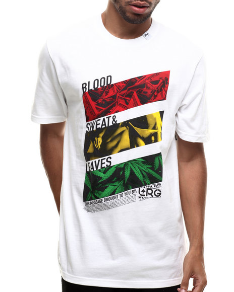 Lrg - Men White Blood Sweat & Leaves S/S Tee