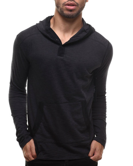 Buyers Picks - Men Charcoal Bitter End Striped Hoodie