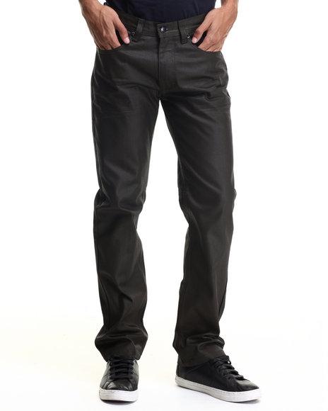 Akademiks - Men Brown Robertson Heavy Coated Premium Denim Jeans
