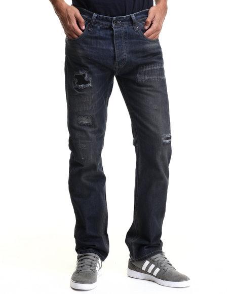 Parish - Men Dark Wash Snake Denim Jeans