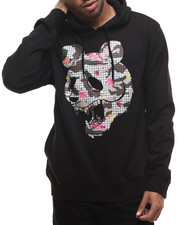 Men - Panda Faced Pullover Hoodie