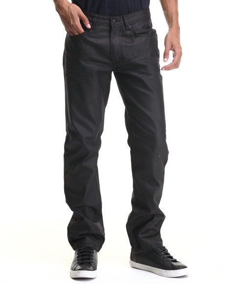 Akademiks - Men Black Robertson Heavy Coated Premium Denim Jeans - $44.00