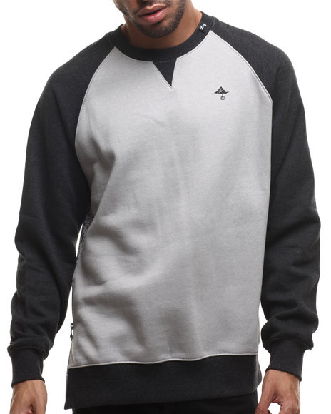Lrg Black,Grey Pullover Sweatshirts