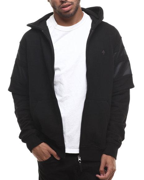 Lrg - Men Black Resolutionary Scumbag Zip - Up Hoodie