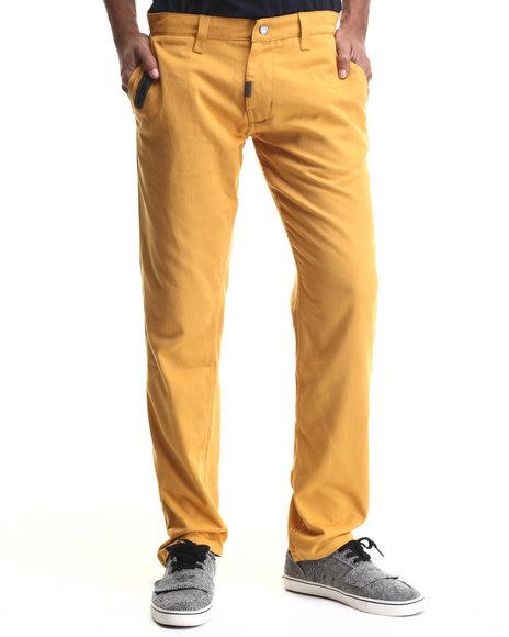 Lrg - Men Gold L-47 True-Tapered Stitchless Pants