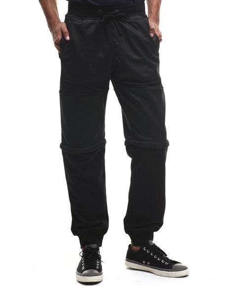 Lrg - Men Black Resolutionary Scumbag Convertible Sweatpants