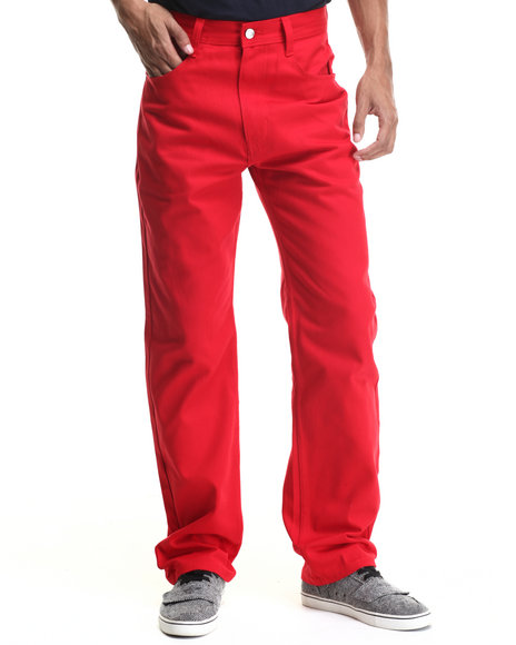 Akademiks - Men Red Culture Color Twill Pants - $31.99