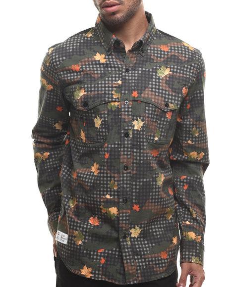 Lrg - Men Multi,Olive Desert Check L/S Overshirt